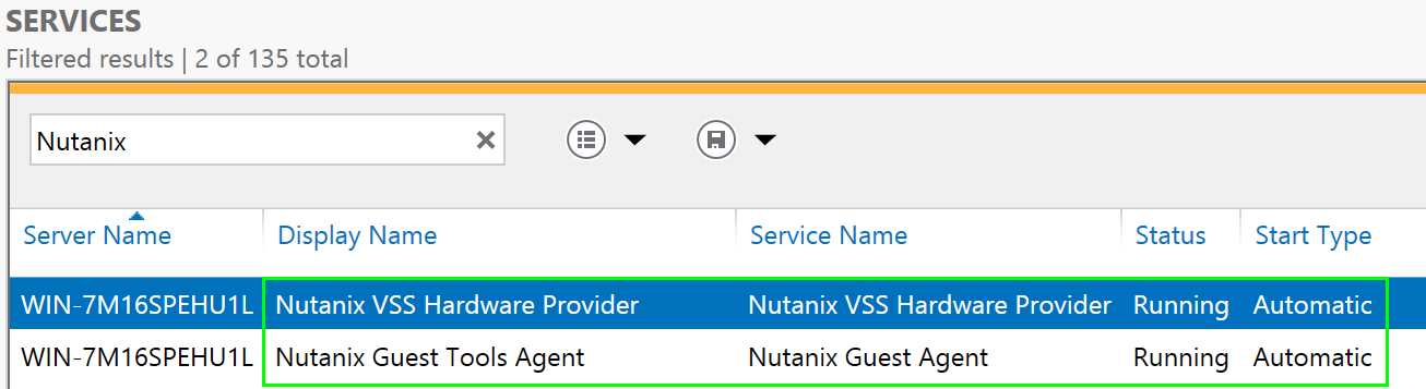 Enable NGT - Services