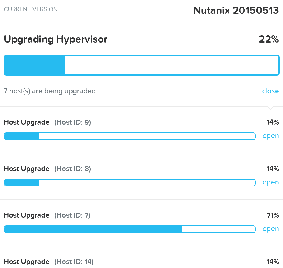 Upgrade Hypervisor - Execution
