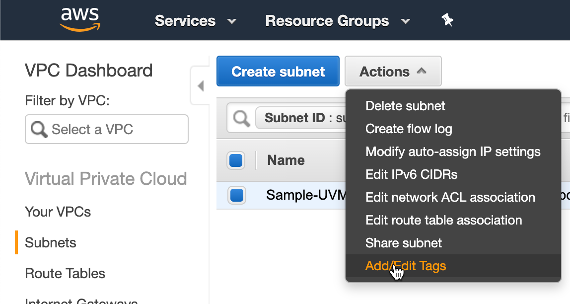 Nutanix Clusters on AWS - Add/Edit Tags