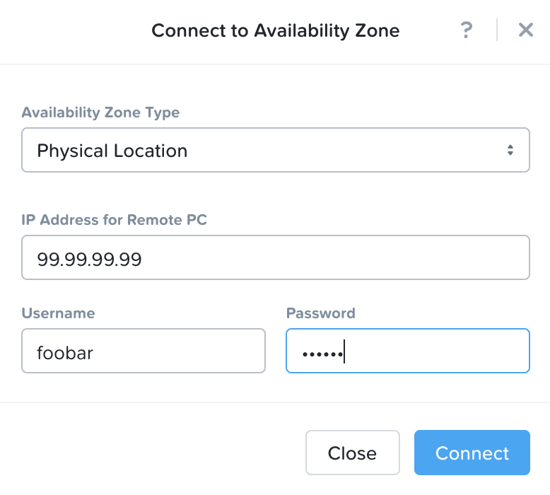 Leap - Connect to Availability Zone